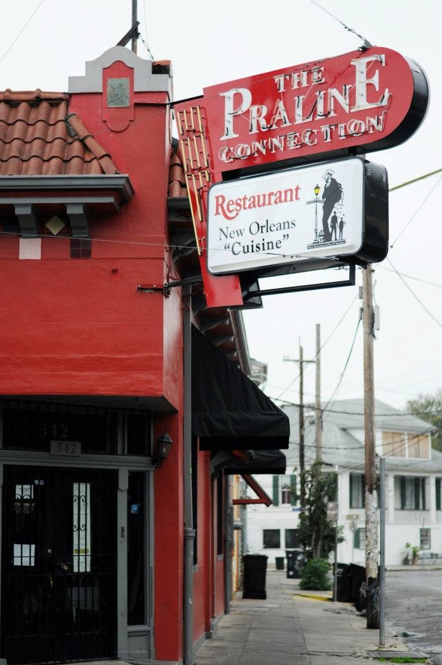 Best Fried Chicken Ever and the Fried Pickle ain't so bad..New Orleans's does it right!    http://www.pralineconnection.com/index.html