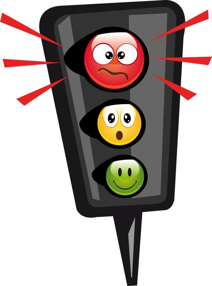 Анимация, рисунки смешного светофора