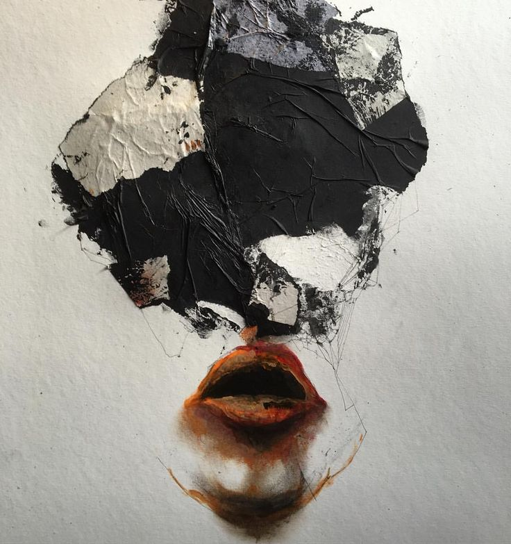 Experimenting again… Work on paper. #oilpainting #ink