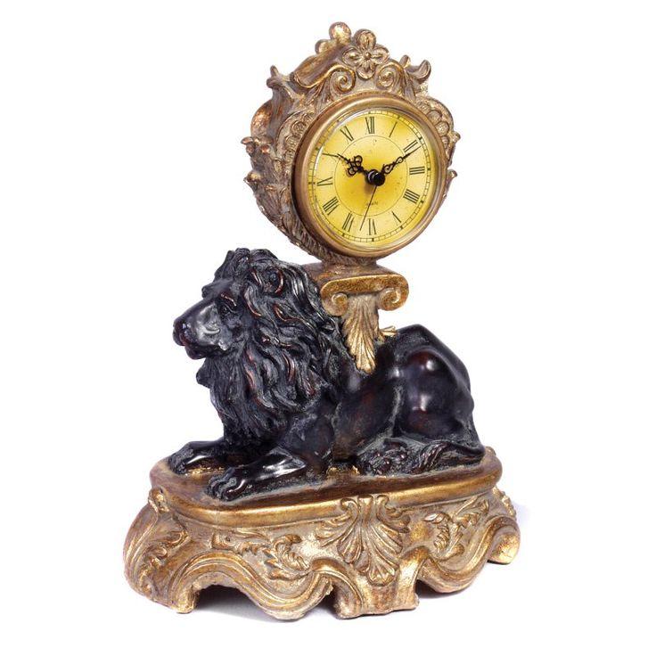 AA Importing Lion Desktop Clock - 6200