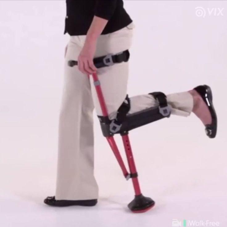 Este nuevo diseño de las clásicas muletas nos permite tener las manos libres y realizar más actividades 🙌