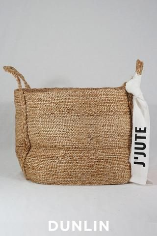 J'Jute Andaman Medium Jute Basket in Natural
