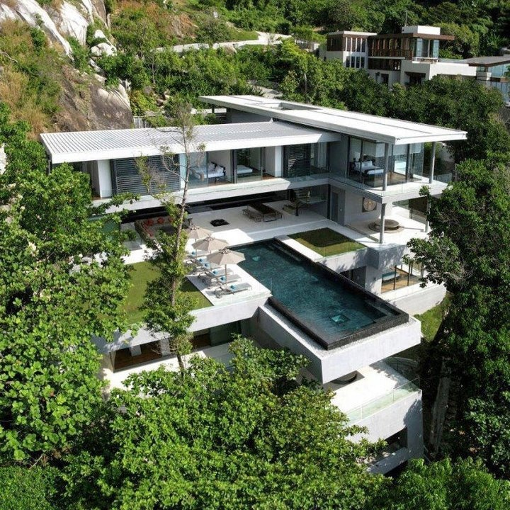 cool place, creative architectureDreams Home, Luxury Villas, Phuket Thailand, Dreams House, West Coast, Architecture, Modern House, Modern Home, Villas