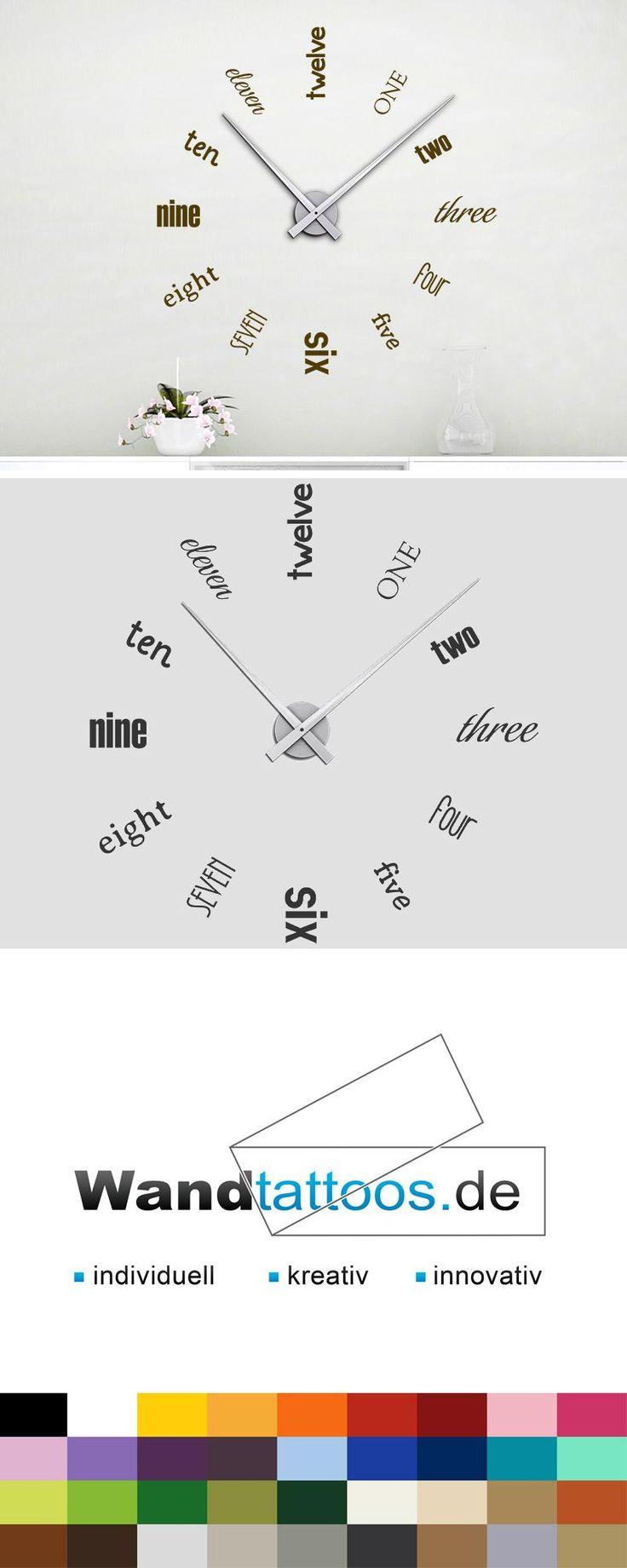 Wandtattoo Uhr One two three als Idee zur individuellen Wandgestaltung. Einfach Lieblingsfarbe und Größe auswählen. Weitere kreative Anregungen von Wandtattoos.de hier entdecken!
