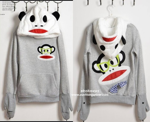 Jaket Sweater Hoodie Paul Frank - IDR 145.000 | outfitorganizer.com 08558204523