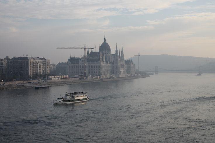 Nice foggy view of Budapest more photo find here http://georgekunst.com/blog/51-margit-sziget-2013