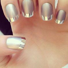 Un estilo de manicure francesa, super elegante para cualquier ocasión. #Beauty #Tips #Manicure #Uñas