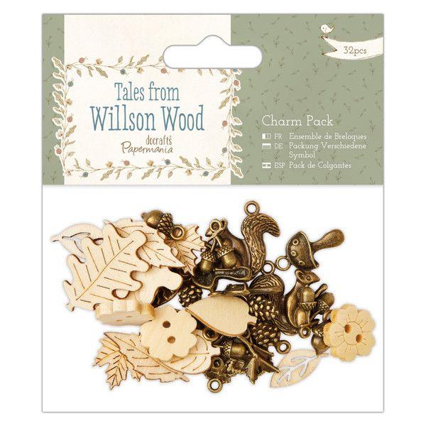 Charms - 32 Charms, Papermania - Tales from Willson Wood - ein Designerstück von…