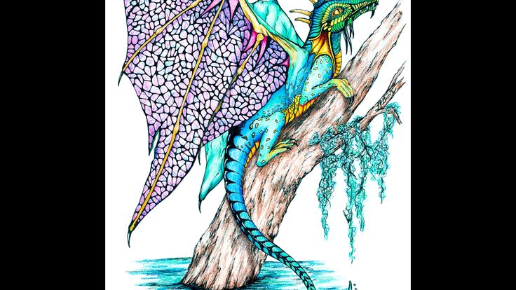 Story Time with a Lacewing Dragon (Speed Drawing #12)