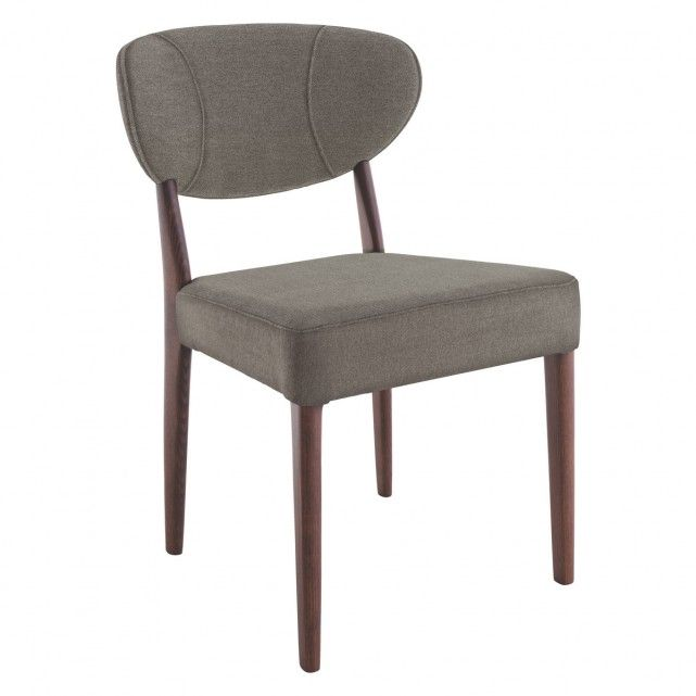 BARNES Grey upholstered dining chair
