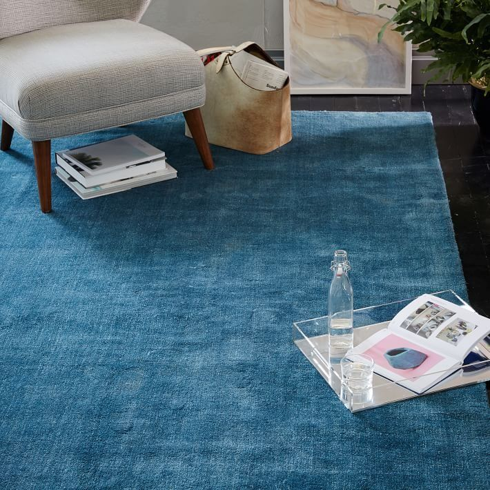 Sea blue rug from West Elm