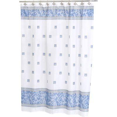 Wade Logan Ballard Shower Curtain Color: Slate Blue