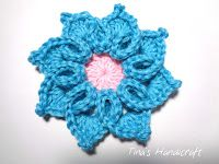 Tina's handicraft : 3D crochet flower No - 8