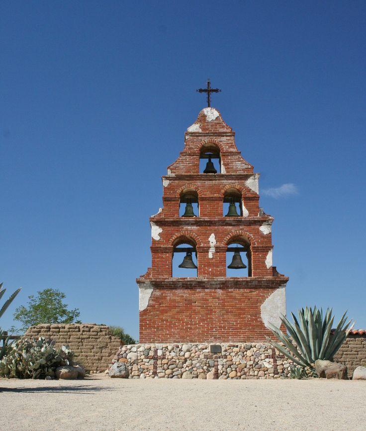 Old bell tower San Miguel Arcangel Mission. San Miguel, Ca.