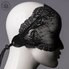 Lace mask / Versatile black lace mask / full face by MetamorphQC