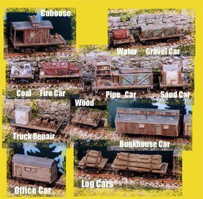 Logging train cars