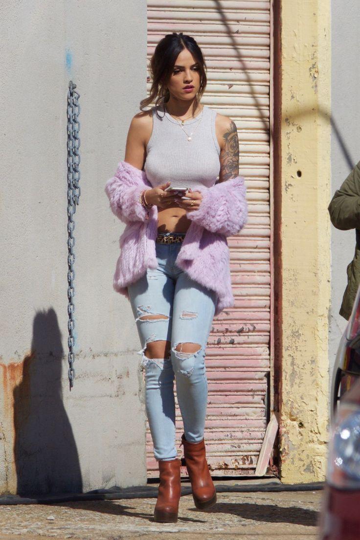 Eiza Gonzalez On the Set of Baby Driver