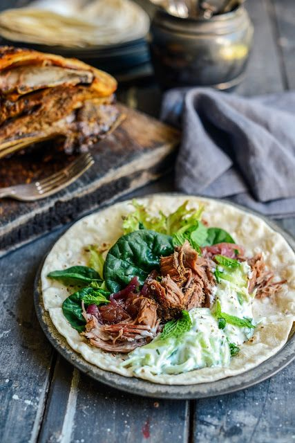 Slow Roasted Lamb Shoulder on flatbreads with Minty yoghurt sauceOld School Left-over Lamb 'Curry'Summer Loving All-In SaladCreamy Chicken