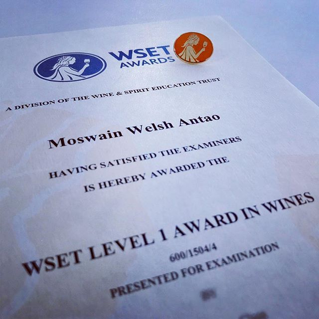 Wset Level 1 Award In Wines Done Wset