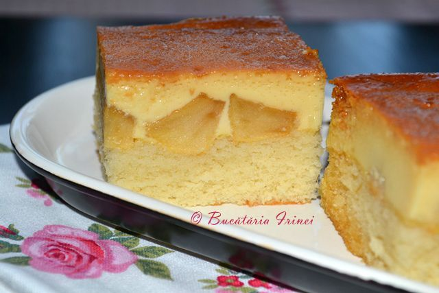 Bucataria Irinei...: Prajitura cu mere si crema de zahar ars