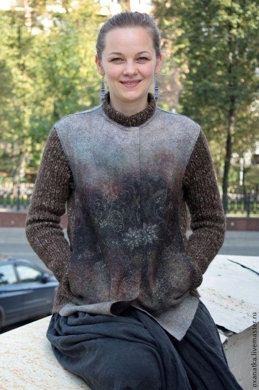 Пиджаки, жакеты ручной работы. Ярмарка Мастеров - ручная работа. Купить Валяная куртка Предчувствие. Handmade. Коричневый, войлок