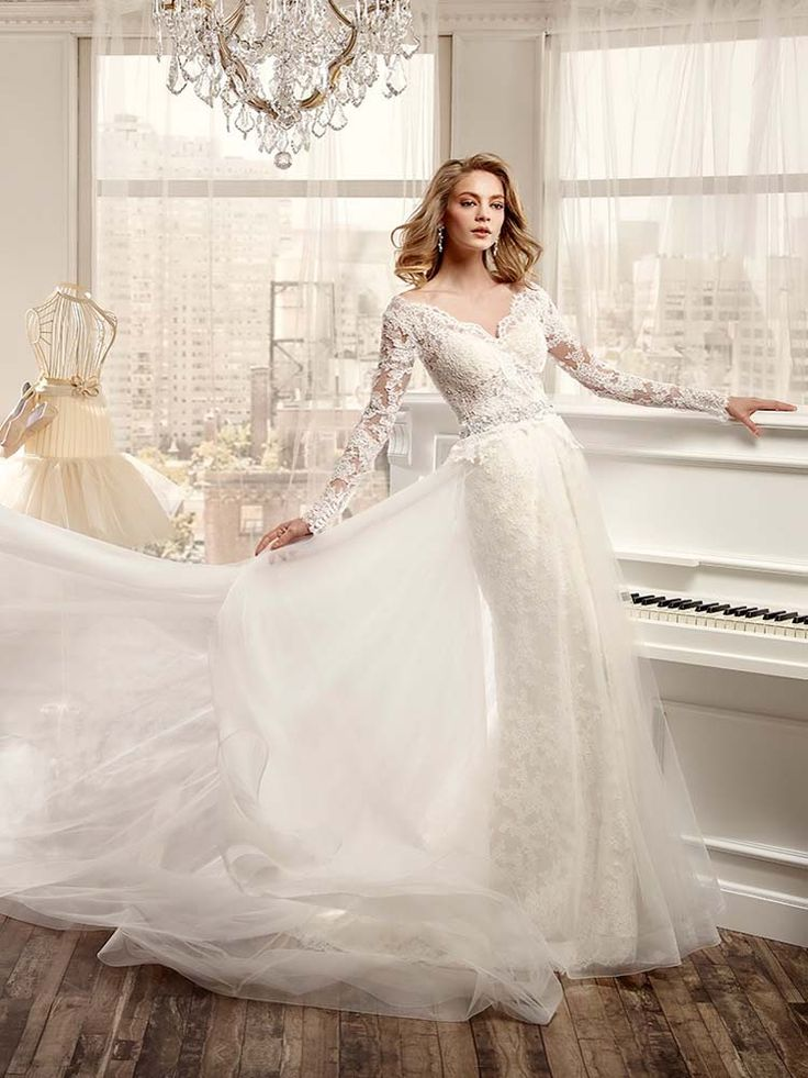 #NicoleSpose #Sue a beautifully embellished wedding gown with #sleeves #weddingdress #prudencegowns #DressingYourDreams #Plymout h #Exeter #Devon #Cornwall