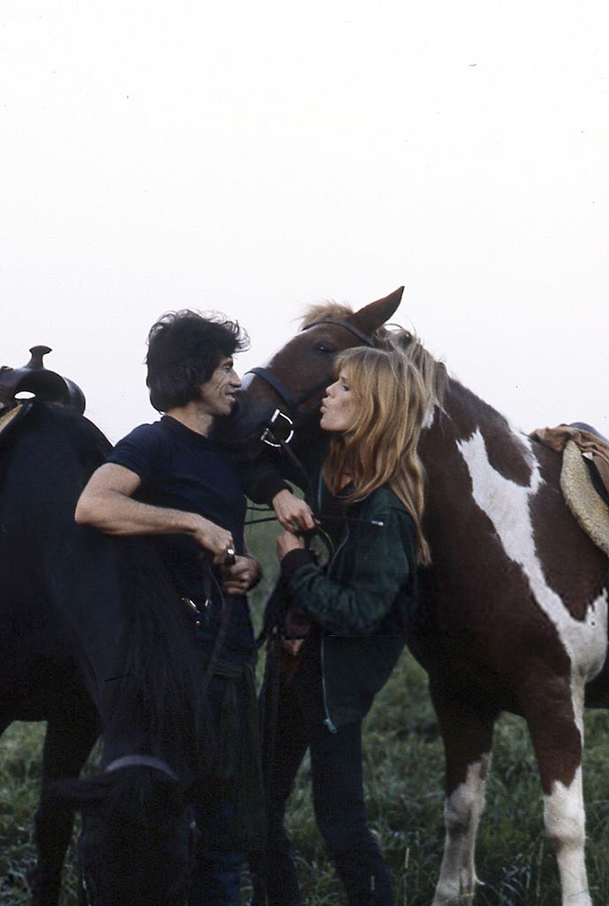Keith Richards and Patti Hansen - Long View Farm; 1981