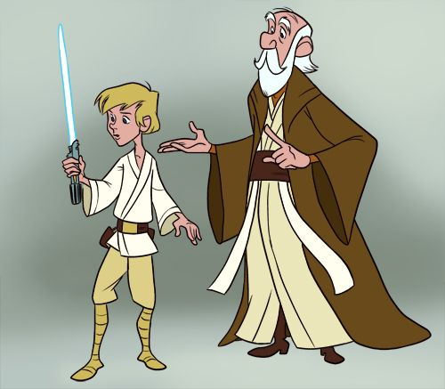 Star Wars/Sword in the Stone mash-up art. If this doesn't make sense, I don't know what does.