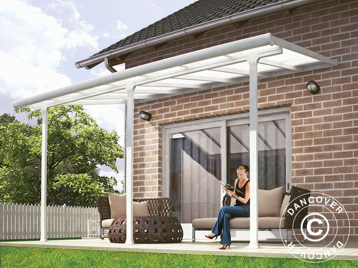 CARPORT/ PATIO COVER FERIA 3X4.25 M, WHITE A light and elegant high quality patio cover also usable as a carport. Gives you the opportunity to spend more time on your patio both during the day and in the evening.