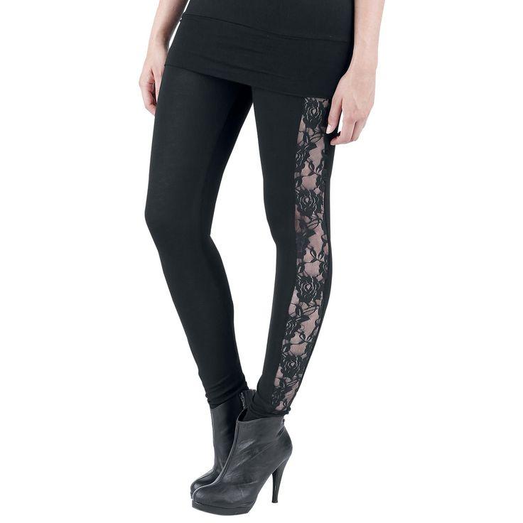"Spiral Leggings, Women ""Lace"" black • EMP"