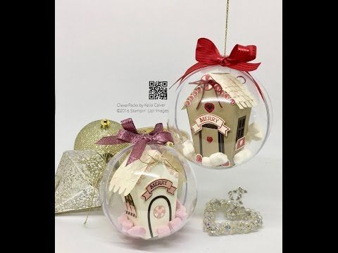 """39"" Sleeps Till Christmas House in a Bauble with Stampin' Up! Sweet Home Bundle - YouTube"