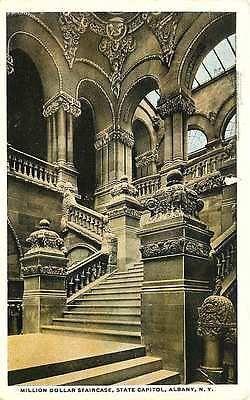 Albany New York NY 1914 Million Dollar Interior Staircase Vintage Postcard