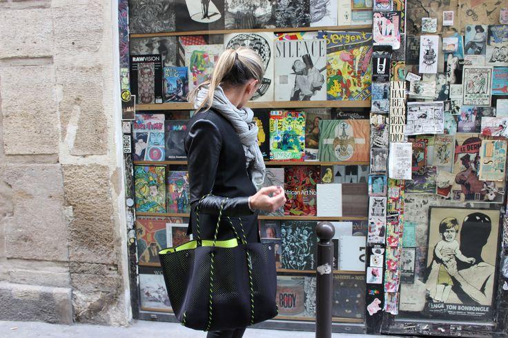 Black/Neon Yellow Escape carryall Paris - Saint Germain