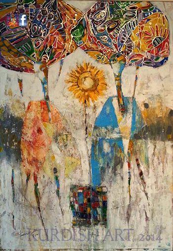 Art work painting by Lukman Ahmad born in Al Hasakah
