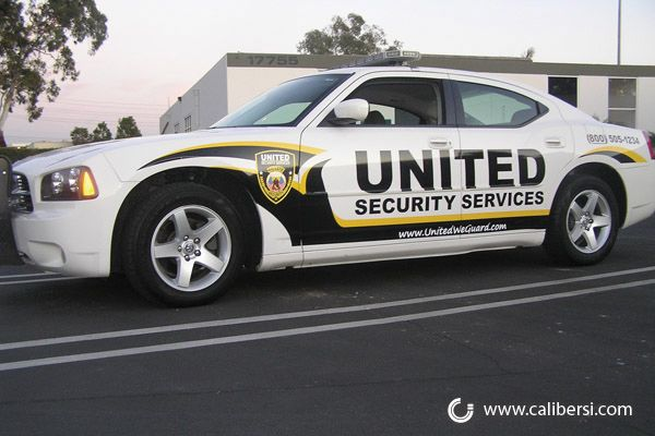 Security Patrol Cars With Some Reflective Vinyl For Night