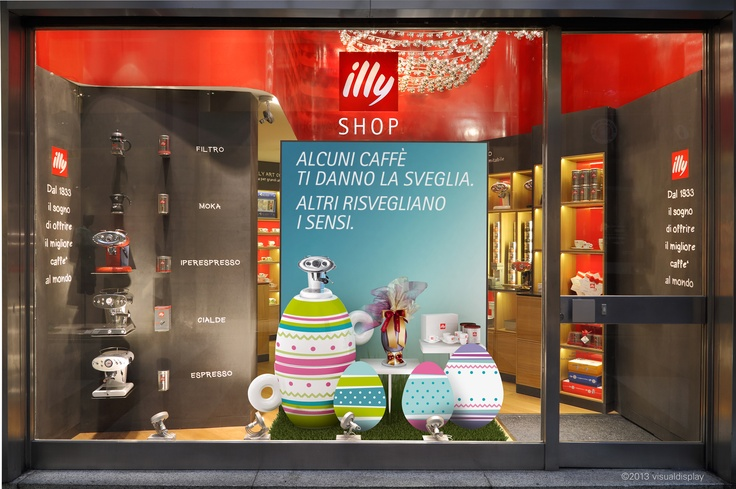 ILLY SHOP Galleria San Carlo MI   Vetrina Pasqua