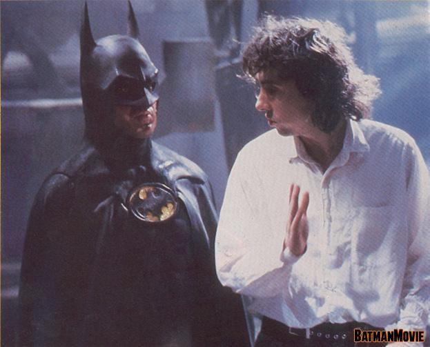За кадром фильма «Бэтмен» (1989) (часть 3) Фильмы, за кадром, Тим Бертон, Майкл Китон, Джек Николсон, бэтмен, Джокер, кадры со съемок, длиннопост
