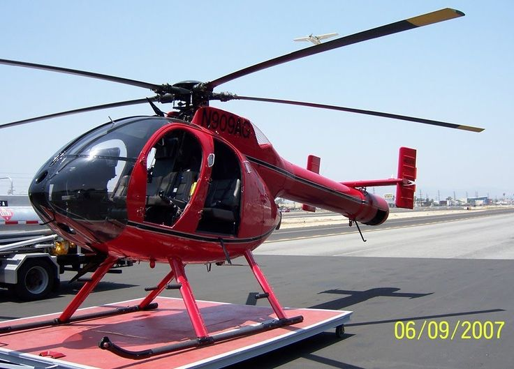MD-520N NOTAR Helicopter Flight out of Whiteman Airport.