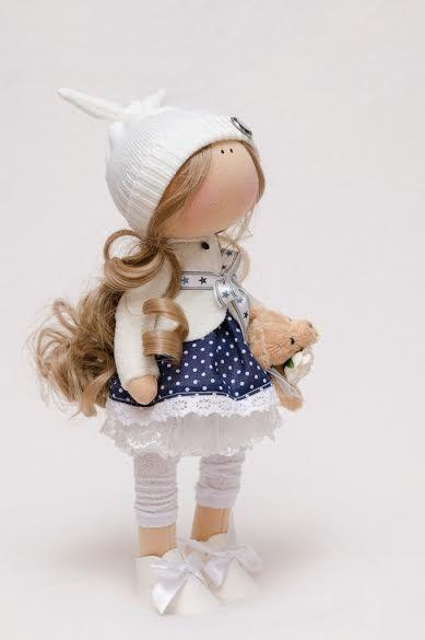 Evie Doll-Handmade Doll-Textile от BroderieLittleCorner на Etsy
