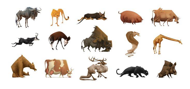 Some animal paintings I made this year, Hunor Fogarasi on ArtStation at https://www.artstation.com/artwork/DYvK0