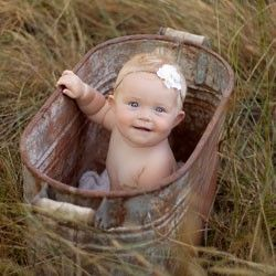 cute----hopefully babygirl had her tetanus shot!