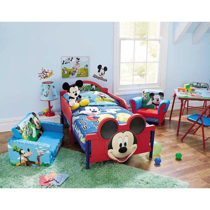 Disney Toddler Bed Disney Mickey Mouse 3D Children Kid's Footboard Metal Plastic #Disney #Toddler #Kids