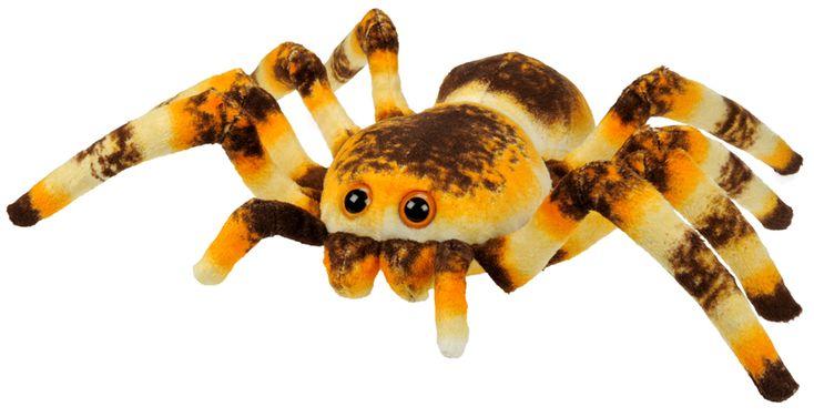 """Pluche Dier """"Spin"""". Neem hem mee naar bed. Deze spin (22 x 33 cm) is perfect om mee te knuffelen! Hij is zacht en pluizig, een perfect eerste huisdier voor kinderen. Hij is geduldig, vergevensgezind en heeft geen speciaal voer nodig – alleen een hoop liefde!"""
