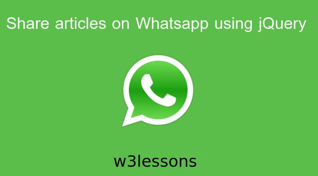 My readers keep on asking me that How to share information directly from the web page into WhatsApp? So I thought to write asimpletutorialwhich will help to share articles from the webpage to Whatsapp using jQuery. Report says that by adding a Whatsapp sharing button on websites that will generate…