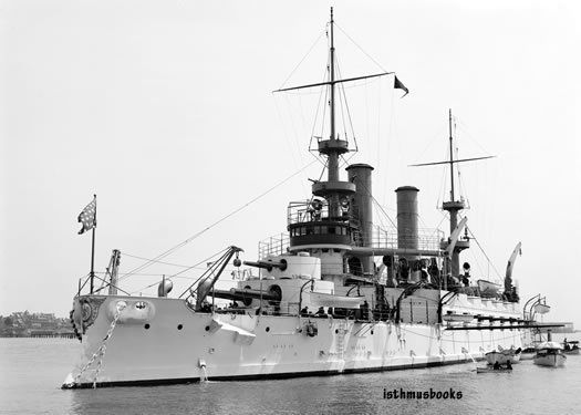 USS US Battleship Kearsarge War Navy Ship photo c 1900