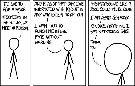 XKCD, on Klout
