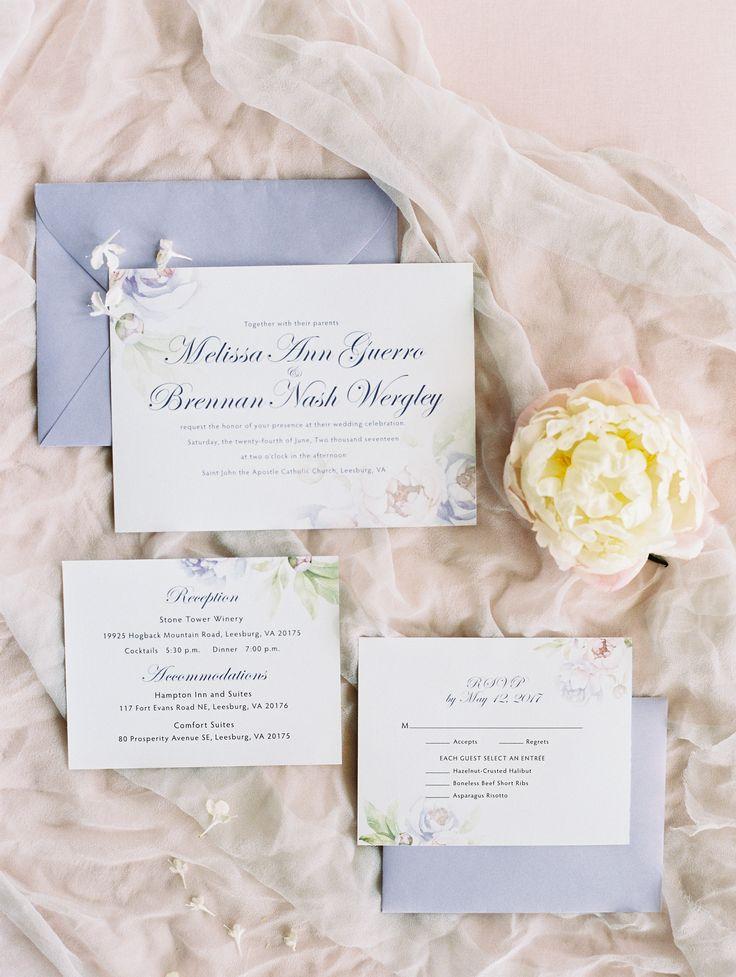 Pastel Wedding Invitation Suite | Photography: Lisa Ziesing