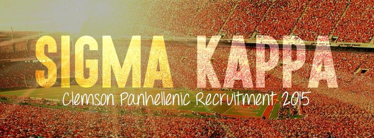 Clemson Sigma Kappa sorority recruitment banner or cover photo for Facebook and twitter