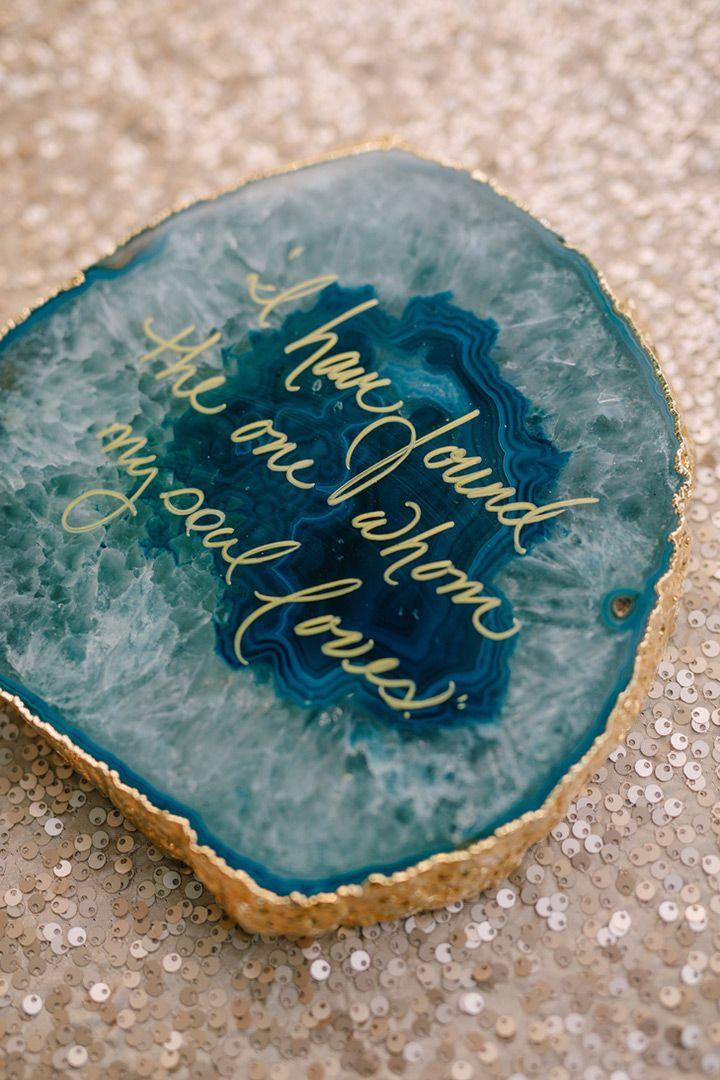 agate wedding decor ~ we ❤ this! moncheribridals.com