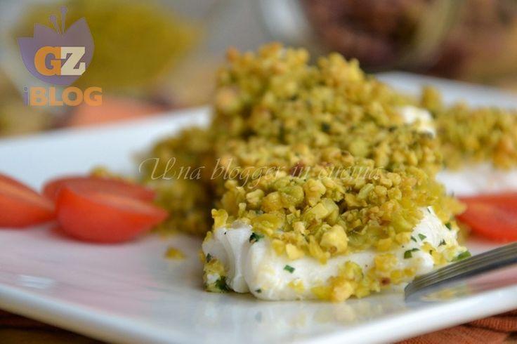 Filetti di merluzzo in crosta di pistacchi, un piatto di pesce sfizioso, semplice ed elegante, per tutti i giorni o per le occasioni speciali.